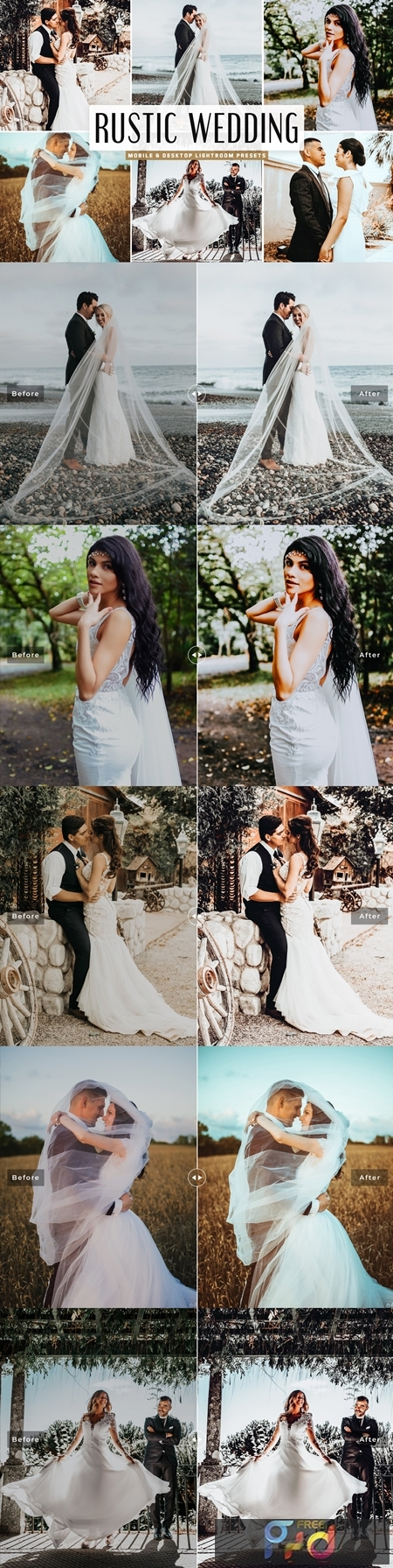 Rustic Wedding Mobile & Desktop Lightroom Presets 4746264 1
