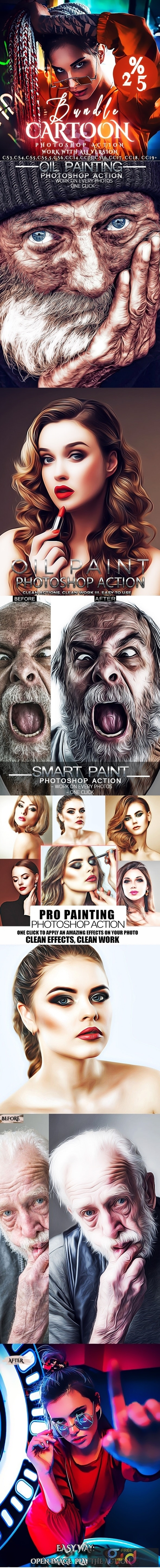 Bundle Cartoon Painting Photoshop Actions 26075116 1