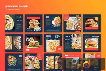 Instagram Banner Burger Fast Food TPUAYHU 1