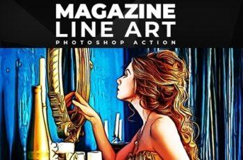 Magazine Line Art - Photoshop Action 26096233 2