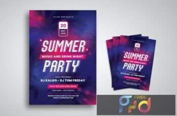 Neon Party Flyer ZB7F352 12