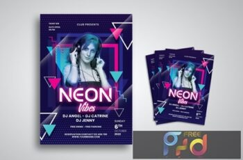 Neon Party Flyer ZDW5348 4