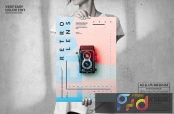 Retro Lens Exhibition - Big Poster Design S56XCWT 8