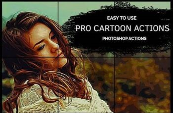 Pro Cartoon - Photoshop Action 25825076