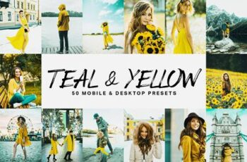 50 Teal & Yellow Lightroom Presets and LUTs 4747346 5