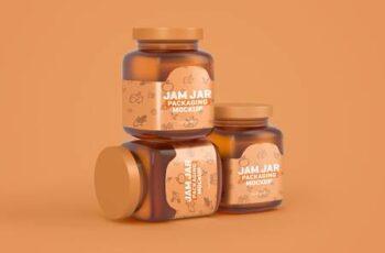 Glass Jam Jar Packaging Mockup 4321463 4