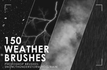 150 Weather Photoshop Brushes 3092149 5