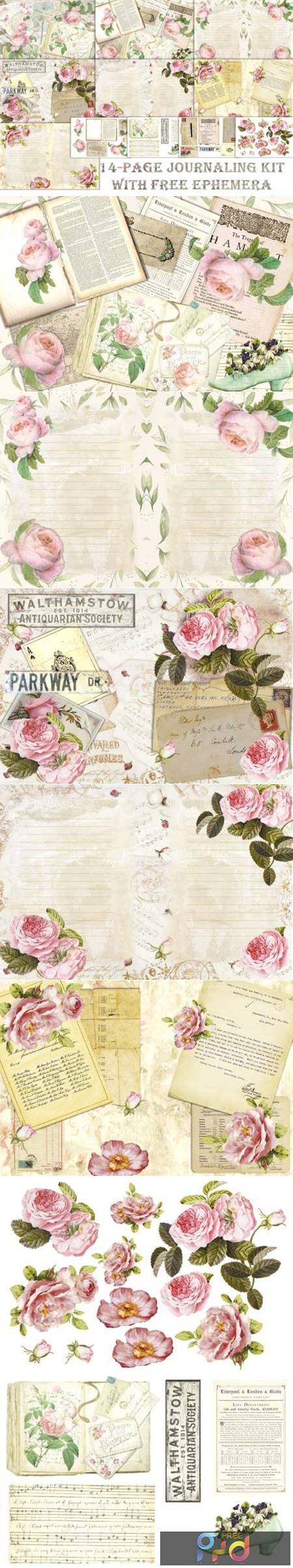 Romantic Roses Backgrounds and Clipart 1629568 1
