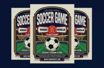 Soccer Game Sport Flyer 3786537 6