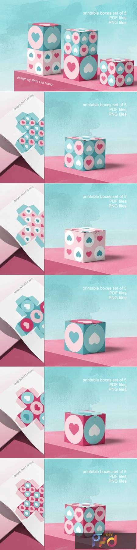 Printable Boxes for Valentine Gifts PDF 3783483 1