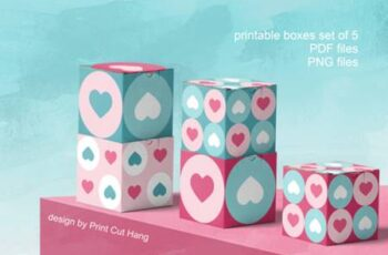 Printable Boxes for Valentine Gifts PDF 3783483 16