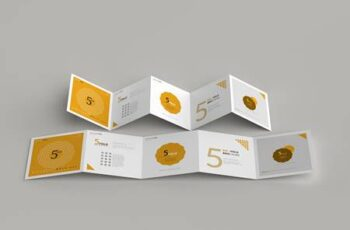 5-Fold Square Brochure Mockups 4749557 2