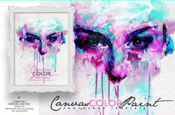 Canvas Color Paint Photo Template 4631437