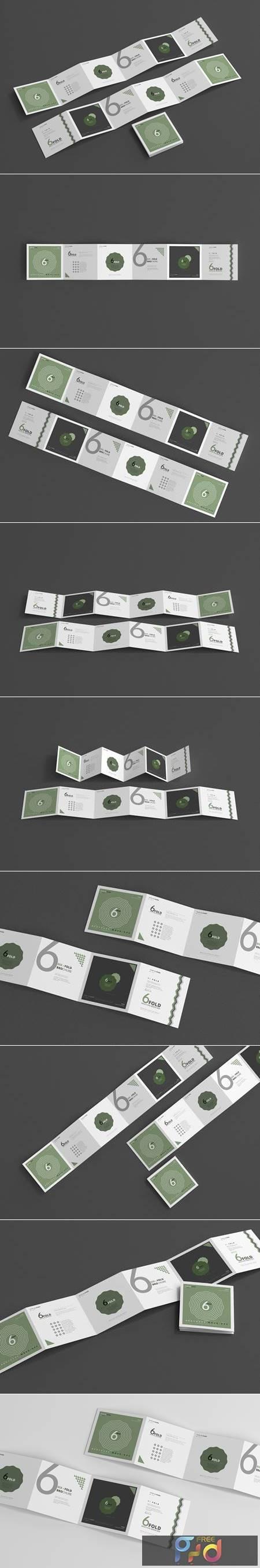 Six Fold Square Brochure Mockups 4718114 1