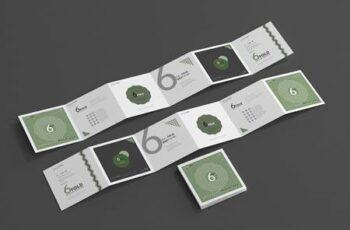 Six Fold Square Brochure Mockups 4718114 5