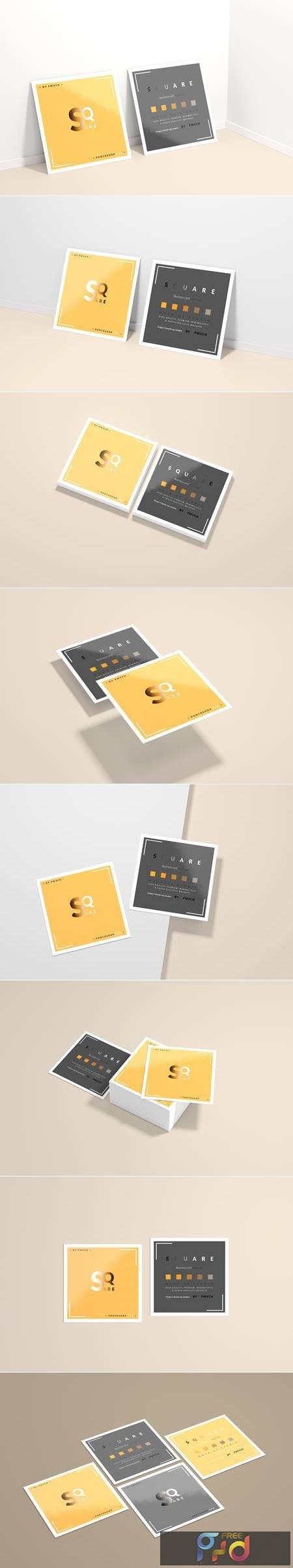 Square Business Card Mockups 4752802 1