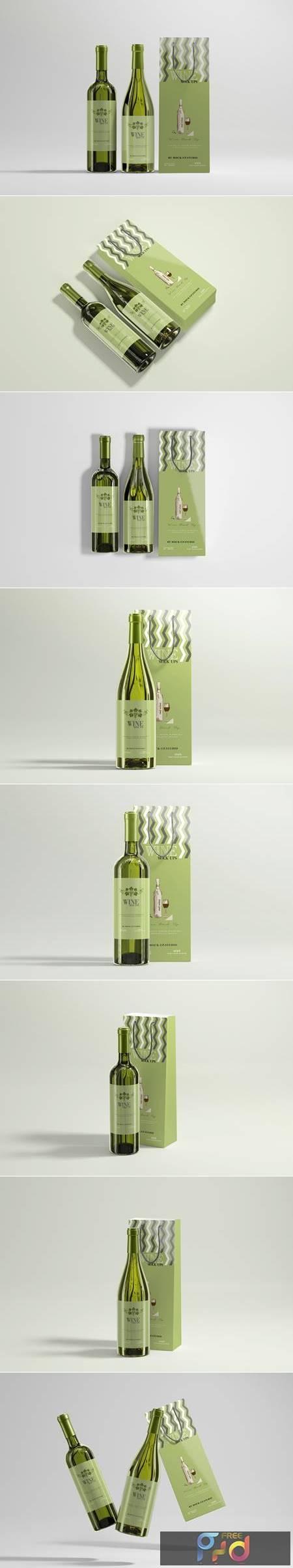 White Wine with Bag Mockups 4752080 1