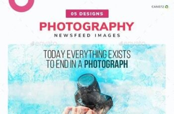 Photography Social Media News Feed Images Set - 05 Designs 25846392 7