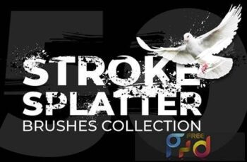 50 Stroke Splatter Photoshop Brushes Collection DQY9KCT 6