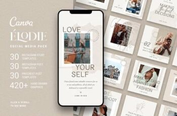 Elodie - Canva Social Templates Pack 4767084 8