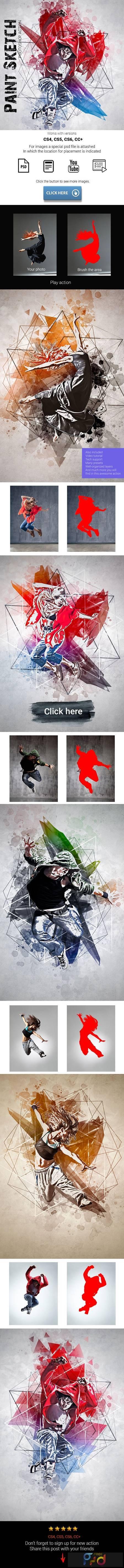 Paint Sketch Photoshop Action 26242516 1