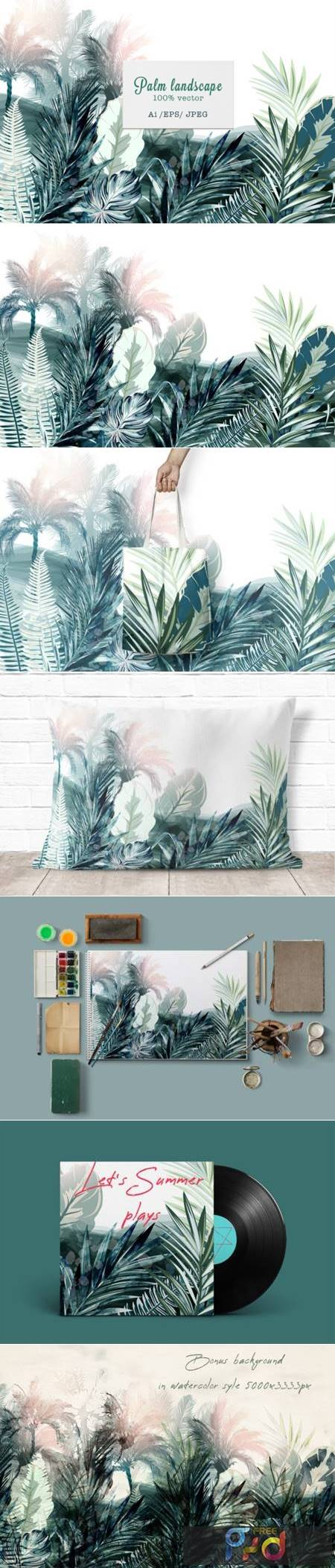 Tropical Landscape Vector Illustration 3799965 1