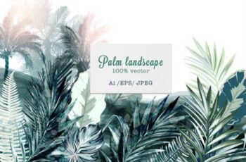 Tropical Landscape Vector Illustration 3799965 13