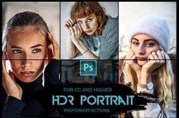 HDR Portrait - 10 Premium Photoshop Actions 26106614 6