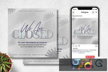 Night Club Closed Flyer Template 3821399 1