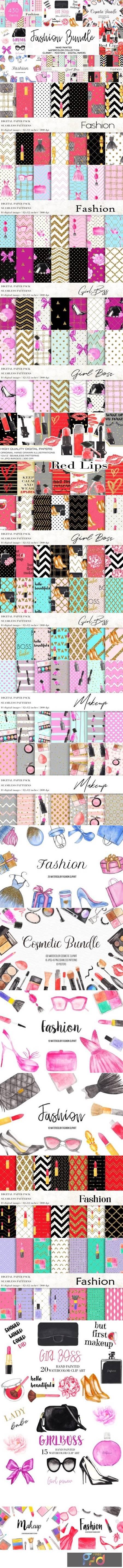 Watercolor Fashion Makeup Bundle 3826179 1