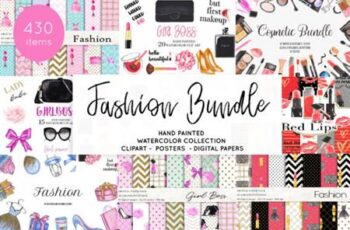 Watercolor Fashion Makeup Bundle 3826179 15