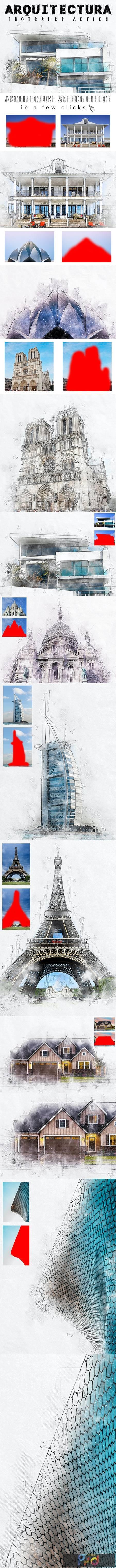 Arquitectura - Architecture Sketch Photoshop Action 26013208 1