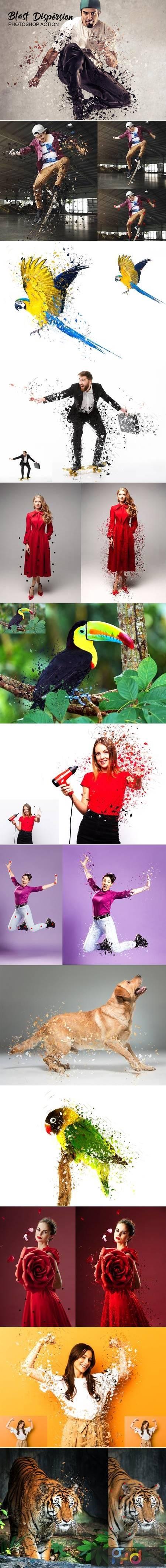 Blast Dispersion Photoshop Action 4755670 1