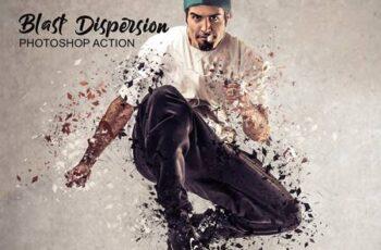 Blast Dispersion Photoshop Action 4755670