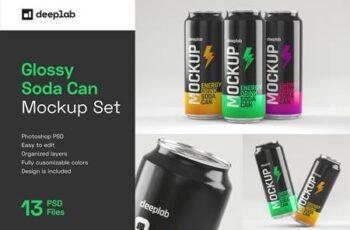 Glossy Soda Can Mockup Set 4489324 2