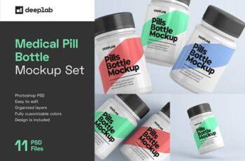 Medical Pill Bottle Mockup - 11 set 4429056 7