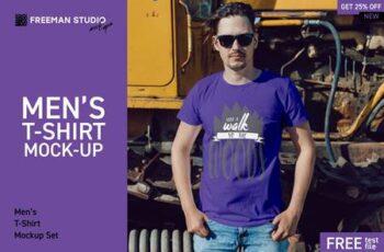Mens T-Shirt Mock-Up Set 3857277 1