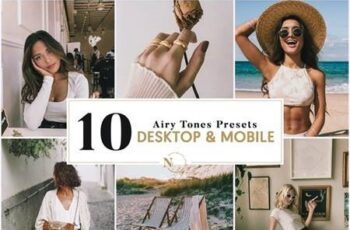 10 Lightroom Presets Desktop & Mobile Isis Airy Tones Collection 26133274 3