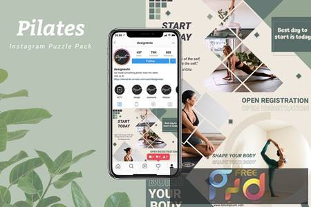 Pilates - Instagram Puzzle Pack FH9BNV7 1