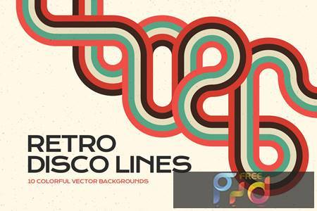 Retro Disco Lines Vector Backgrounds Pack BVRTCYF 1