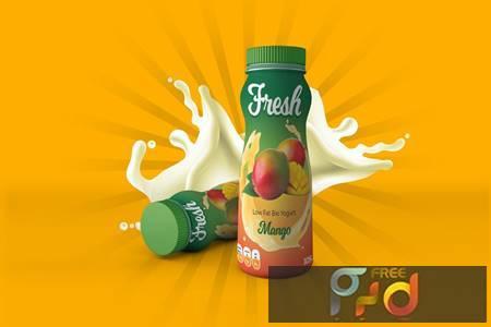 Yogurt Bottle Label Design FSP8LCB 1