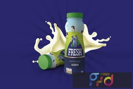 Yogurt Bottle Label Design WVS2JK6 1