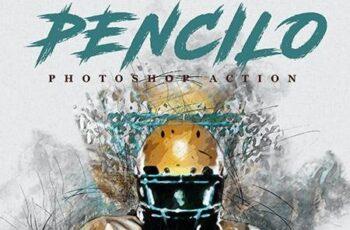 Pencilo - Pencil Sketch Art Photoshop Action 25880701 2