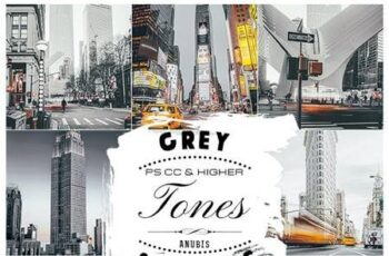 Grey Tones Photoshop Actions 26207628 6
