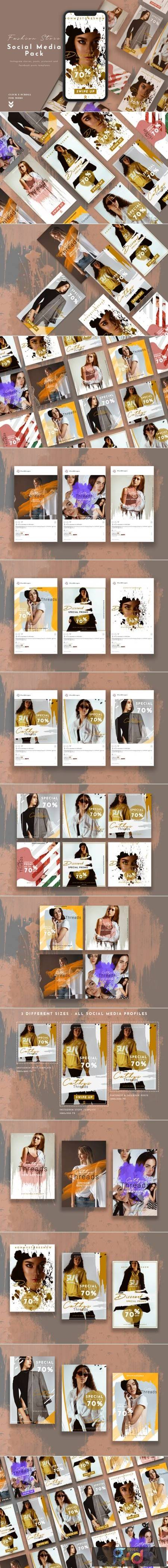Fashion Store Social Media Pack 3814943 1