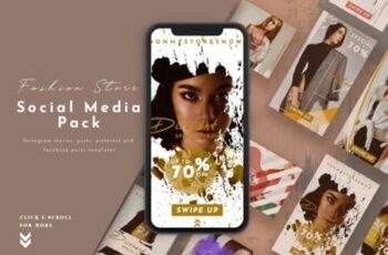 Fashion Store Social Media Pack 3814943 6