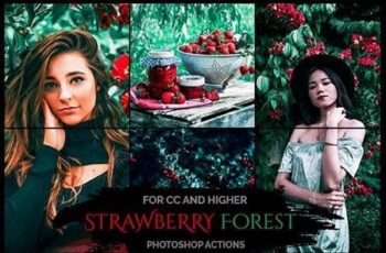 Strawberry Forest - Photoshop Actions 26131800 2