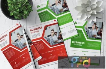 Modern corporate business flyer BVZNBJA 5