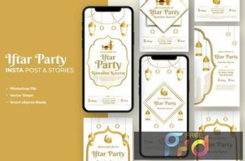 Ramadan Iftar Party Invitation Instagram Template 73A5WRC 7