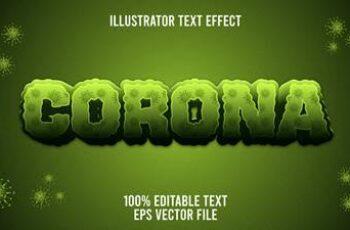 Editable font effect text collection illustration design 56 6